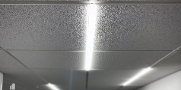 Interior Ceiling Grid T-bar LED lighting in Norfolk Dominion Tower 13th Floor