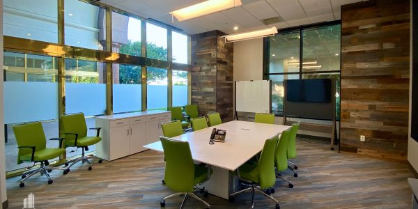Conference room with custom millwork on walls in Norfolk Dominion Tower 1st Floor
