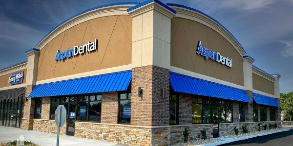 Aspen Dental building storefront at Hilltop in Virginia Beach