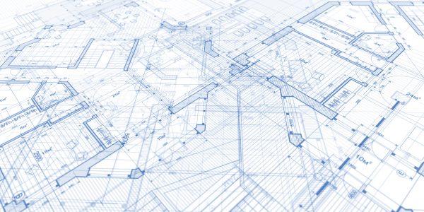 Architectural blue prints