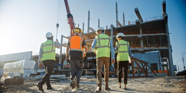 general contractors at ground-up construction job site
