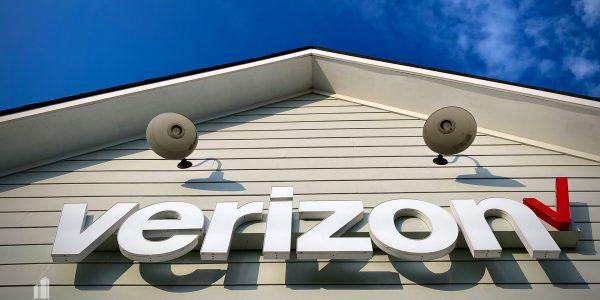 Exterior lighting detail on Verizon building on Hampton Blvd in Norfolk
