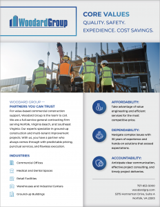 Woodard Group sell sheet cover page