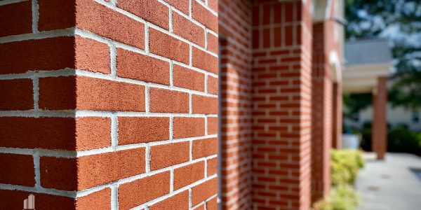 Brick detail on front exterior of medical office in Hampton