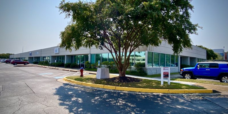 Single Story office complex on Volvo Parkway in Chesapeake