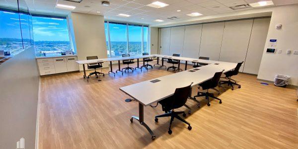Conference Room on upper floor overlooking city of Virginia Beach